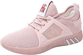 Yong Ding Women Sports Shoes Mesh Upper Breathable Ultralight Athletic Trainers with Flexible Non Slip Sole for Running and Fitness