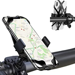 CMBro Bike Phone Mount, 360° Rotation Adjustable Silicone Bicycle Cell Phone Holder for Motorcycle Bike Handlebars, Fits iPhone XR, XS Max, 7/8 Plus, 6/6s Plus, Galaxy S9 Plus, 4.0