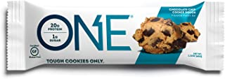 ONE Protein Bar, Chocolate Chip Cookie Dough, 2.12 oz., Gluten-Free Protein Bar with High Protein (20g) and Low Sugar (1g), Guilt Free Snacking for Healthy Diets