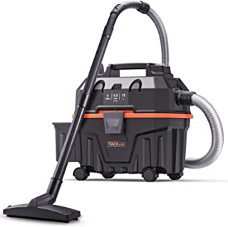 TACKLIFE Wet and Dry Vacuum Cleaner with Attachments, 4 Gallon 1.6 Peak HP 17Kpa Powerful Suction