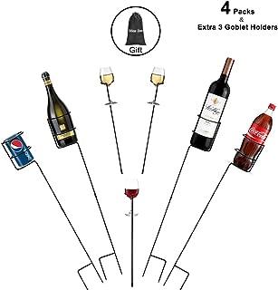 Urban Deco Heavy Duty Drink Holder Outdoor Drink Holders Drink Holder Yard Drink Holder Stakes, 4 Packs Plus Extra 3