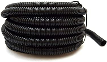 Nippon America Wire Loom Black 20' Feet 1 Split Tubing Hose Cover Auto Home Marine