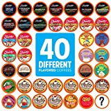 TWO RIVERS COFFEE Flavored Coffee Pods Compatible with 2 Keurig K Cup Brewers, Assorted Flavored Coffee, 40 Count