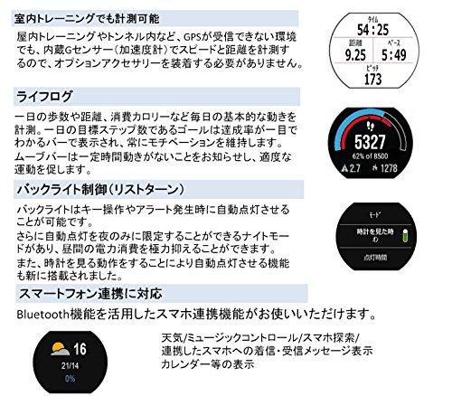 GARMIN(ガーミン)ランニングウォッチ時計GPSライフログForeAthlete230Jブラック×ホワイト【日本正規品】FA230J371787