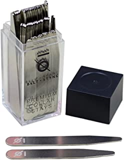 36 Premium Collar Stays, Dress Shirt, Stainless Steel, Simply Choose the Sizes You Need