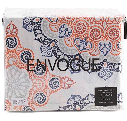 Envogue Colorful Boho Chic Bedding Bohemian Large Moroccan Medallions Duvet Cover Shams Bedding 4pc Set 300TC Cotton Hippie Vintage Tiles Multicolored (Queen)