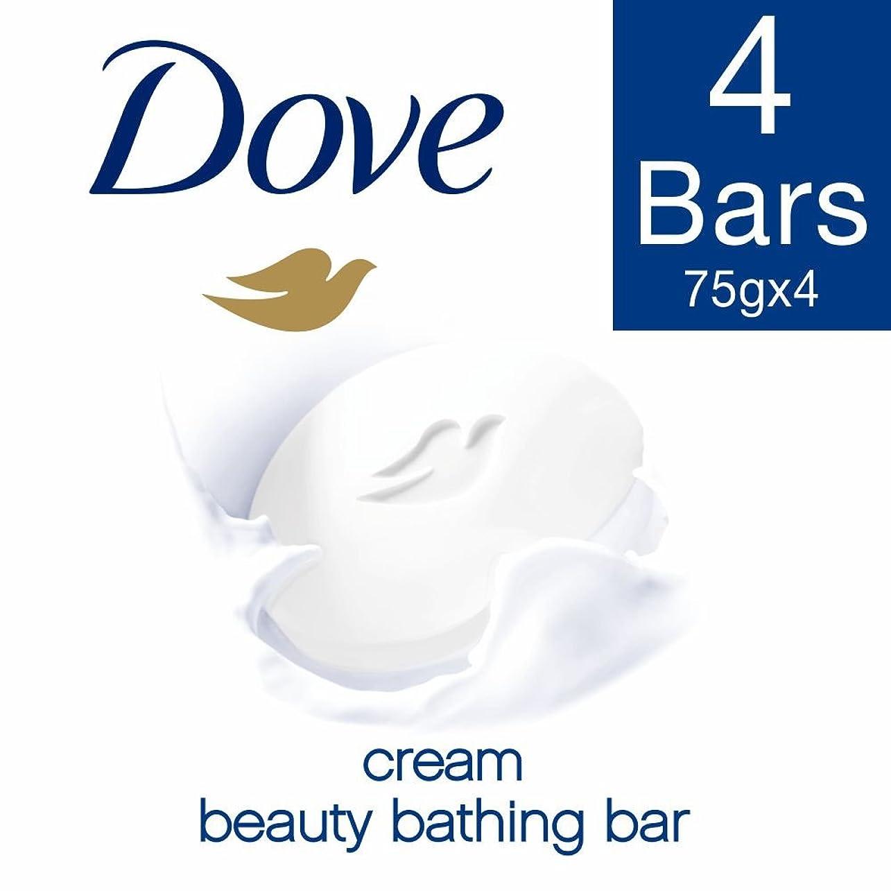 吹雪薄暗い必要とするDove Cream Beauty Bathing Bar, 3x75g