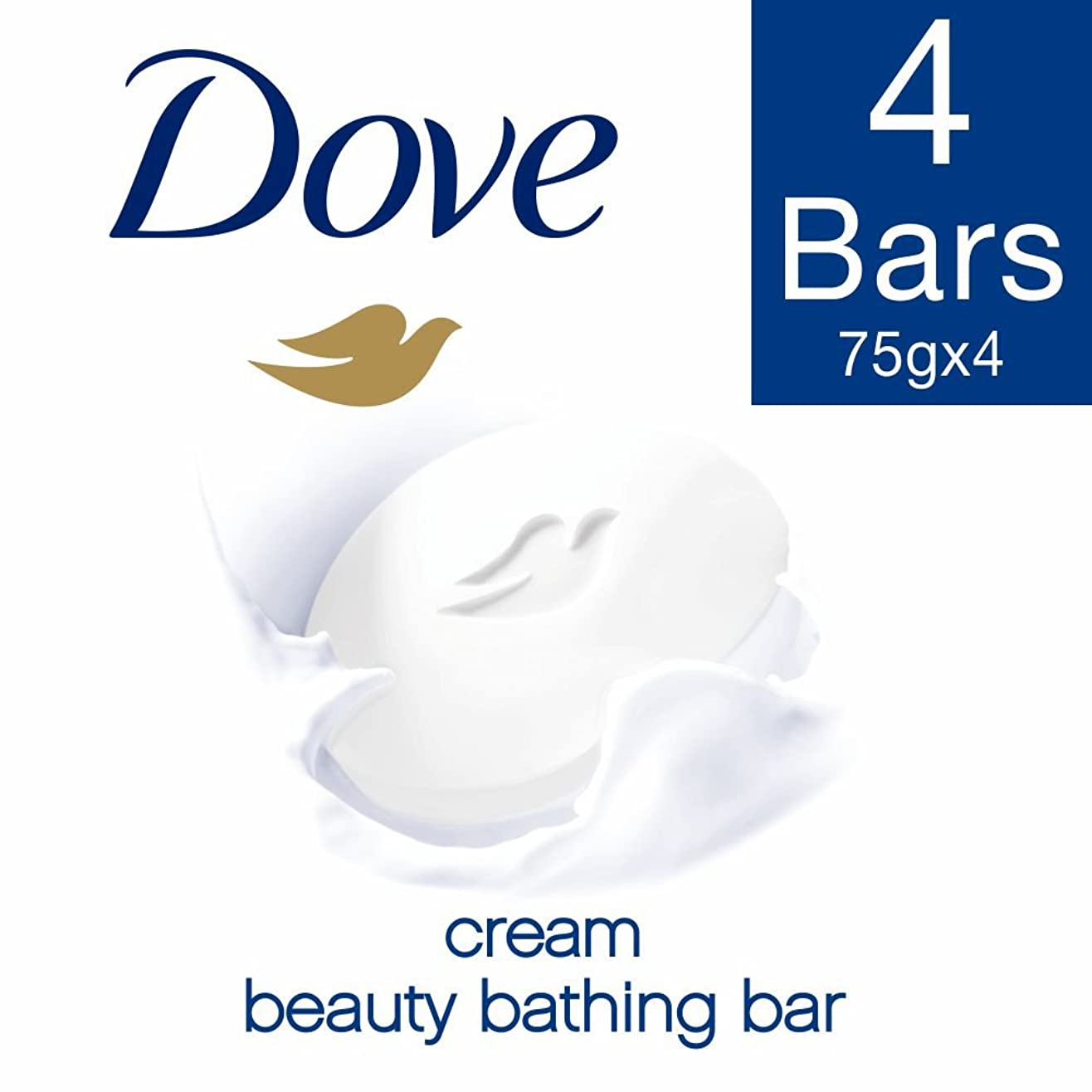 民主主義夕暮れ幹Dove Cream Beauty Bathing Bar, 4x75g