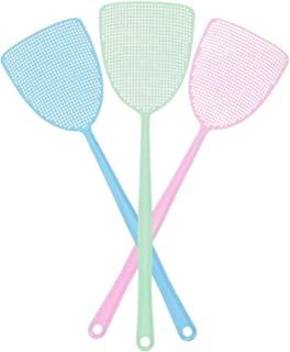MAKINGTEC 3Pack, Plastic Colorful Fly Swatters, with Sturdy and Flexible Manual Grips, 3 Colors