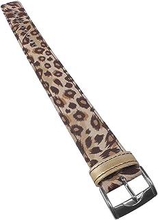 Correa de reloj de tela para reloj de mujer Casio Baby-G BG-3000V Leopard 20 mm