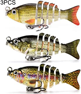 LYCQ Multi Jointed Fishing Lures Hard Baits Lifelike 6 Segments Swimbait Bass Crankbaits Perch Pike Walleye Trout Fishing Bait