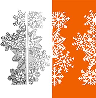 Pine Tree Metal Cutting Dies for Card Making, NOMSOCR Cut Die Metal Stencil Template Mould for DIY Scrapbook Embossing Album Paper Card Craft Birthday Festival Decoration (Snowflake)