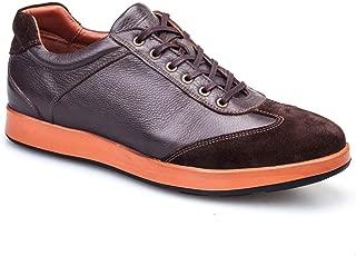 Cabani Bağcıklı Spor Sneaker Erkek Ayakkabı Kahve Floter Deri