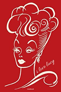 """i love lucy journal: i love lucy notebook, perfect diary, notebook for taking notes and daily tasks,120 blank lined 6x9"""" p..."""