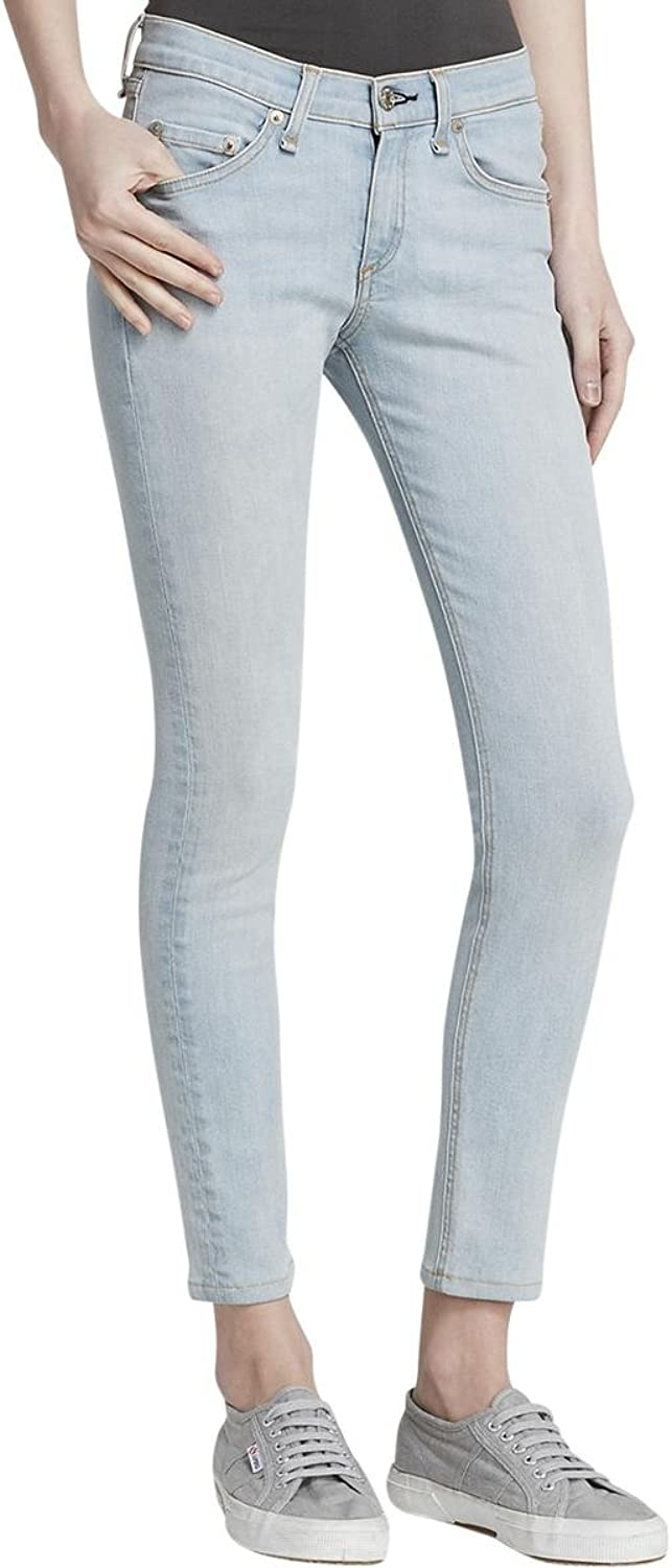 Rag & Bone Womens Brig Capri MidRise Light Wash Skinny Jeans