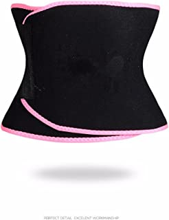 Redcolourful Unisex Sport Body-Shaping Bellyband Sexy Underwear Sweat Absorbing Corset Abdomen Belt Pink L