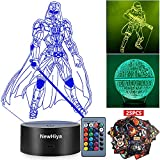 3D Star Wars Night Light, 16 Colors Changing Night Lights with Remote & Smart Touch, Christmas and...