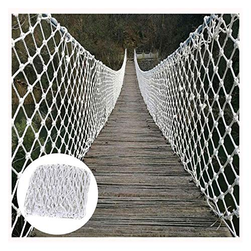 Safety Net for Railing Children Outdoor Climbing Rope Net Balcony Protective Net Plant Decorative Net Rock Cargo Rope Ladder White (Size : 3x4m(10x13ft))