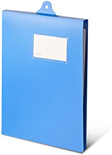 File Folders معلقة مجلد سجل مع التسميات والملصقات A4 لوحة البيانات Binder لوحة الكتابة لإدارة تصنيف سهلة (أزرق) Binder Do...