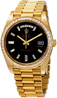 Day-Date Black Dial 18K Yellow Gold President Automatic Men's Watch 228398BKDP
