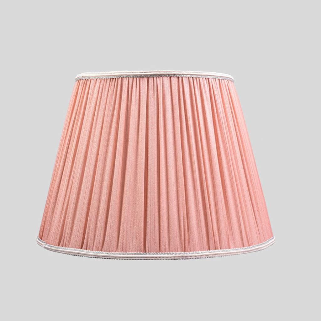 ZQH Pantallas de lámparas para lámpara de Mesa, Vendimia Tela Plisado Tambor Pantalla de lámpara Lino Sombra Clara Cama Cobertor de lámpara Poseedor Pantalla de lámpara para E27 portalámparas,D35cm: Amazon.es: Hogar