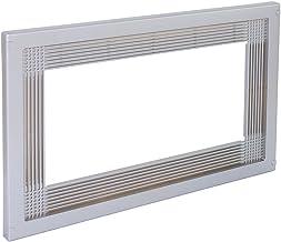 Emuca 8934725 Marco para encastrar microondas en mueble, en plastico, Apto para módulos de 60 cm de ancho, Gris metalizado