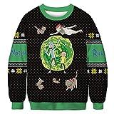 Ugly Christmas Sweater para Mujer, Hombre, Pareja Rick Y Morty, Disfraz De Cosplay, Regalos Novedosos, Jersey De Navidad, Jersey De Manga Larga, Sudadera De Punto