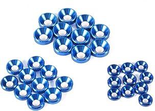 Verzonken Hoofd Geanodiseerde Washers, 10 Stks M5 Aluminiumlegering Cone Cup Hoofd Schroefpakking, Koningsblauw