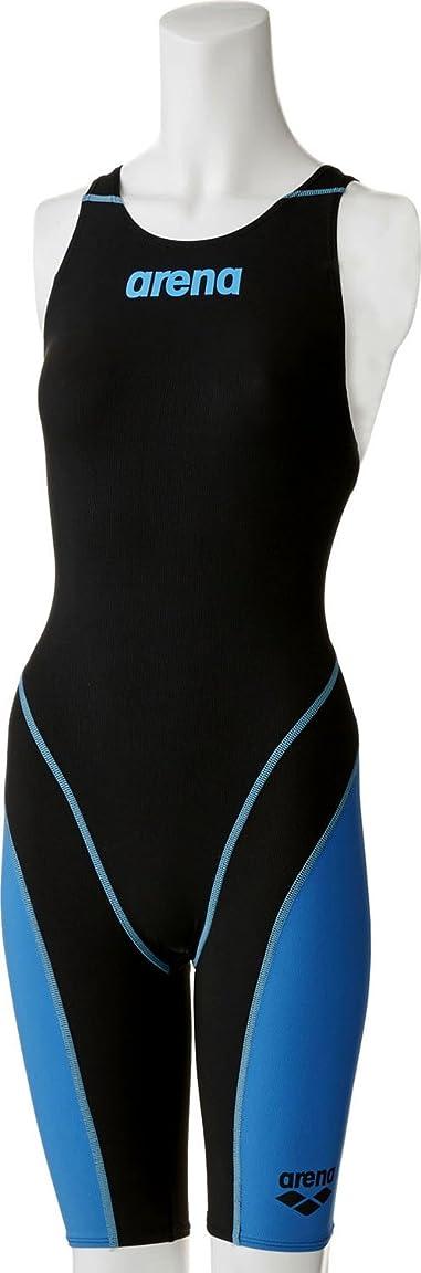 憤る表現初心者arena(アリーナ) 競泳用 水着 ガールズ ジュニア AQUAFORCE FUSION 2 ハーフスパッツ オープンクロスバック FINA承認 ARN-7010WJ BKBU(ブラック×ブルー×ブラック) R140
