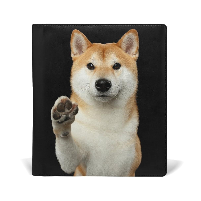 ペルソナ下に貝殻旅立の店 ブックカバー レザー 文庫カバー フリーサイズ 柴犬柄 ノック かわいい 上品 おしゃれ 本好きなあなたに 学生