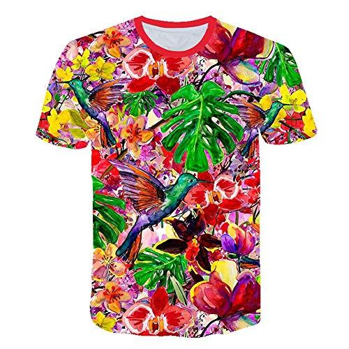Tulipe Rose Fleur T Shirt Hommes Streetwear Été 3D Imprimer Hommes Mode Harajuku T Shirt Drôle Hip,Hop Casual Tops S,6XL,Couleur3 L