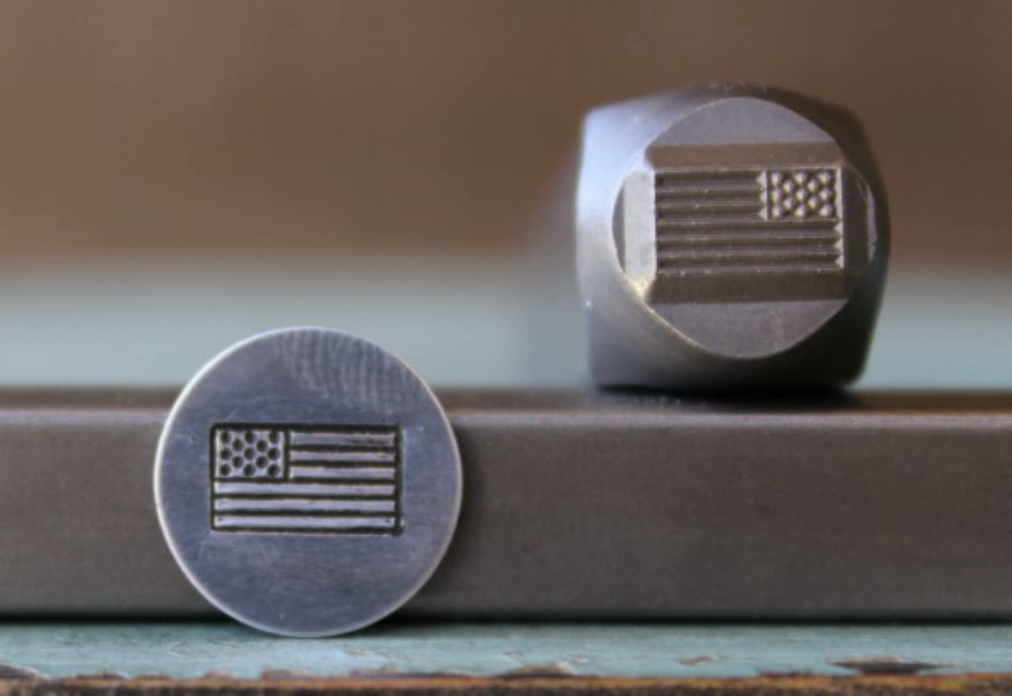 Brand New 8mm American Flag Metal Punch - Design Gu Supply National Year-end gift uniform free shipping Stamp