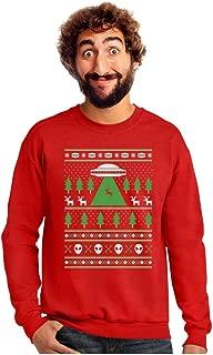 UFO Alien Reindeer Abduction Ugly Christmas Sweater Sweatshirt