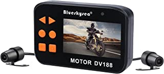 Blueskysea DV188 Motorcycle Recording Camera 1080p Dual Lens Video Driving Recorder Motorbike Dash Cam Sports Action Camera 2.7