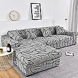 WXQY Funda de sofá elástica Ajustable geométrica sofá Chaise Longue Funda de sofá Funda de sofá Antideslizante Funda de sofá Envuelta herméticamente A13 1 Plaza