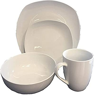 Safdie Premium Dinnerset Dinner set Premium Dinnerware Set, White