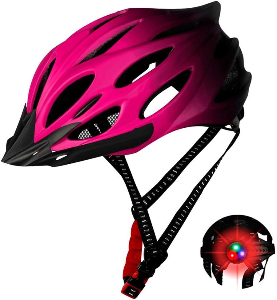 Unisex Protected Cycle Helmet for Men Women Super Light Bike Helmet Adult Bike Helmet Backpack with Detachable Visor KRISWU Bike Helmet with Rechargeable Light