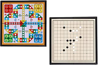 Ludo Board Game & Gobang (Five in a Row) 2 in 1 Magnetic Folding Travel Board Flying Chess Family Game for Adults and Kids...