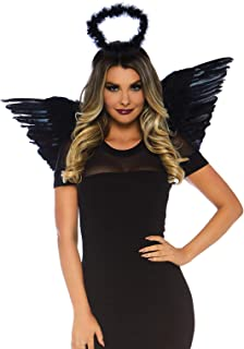 black and white angel costume