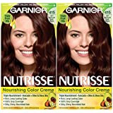 Garnier Hair Color Nutrisse Nourishing Creme, 415 Soft Mahogany Dark Brown (Raspberry Truffle), 2 Count