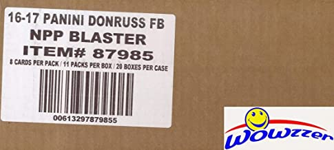 2016 Donruss Football EXCLUSIVE Factory Sealed 20 Box CASE with 20 MEMORABILIA & 220 ROOKIES! Look for Autographs of Tom Brady, Brett Favre, Aaron Rodgers, Carzon Wentz & Many More! WOWZZER!