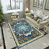 Azul Alfombra De Salon La Alfombra de la cabecera del Dormitorio...
