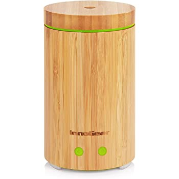 OliveTech Essential Oil Diffuser, 400ml Ultrasonic Aroma Humidifier, Free Cleaning Kit, Auto Shut Off and BPA Free White Marble