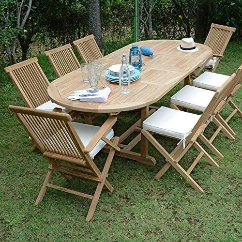 Salon de Jardin en Teck Ecograde Bora-Bora, 8 Places