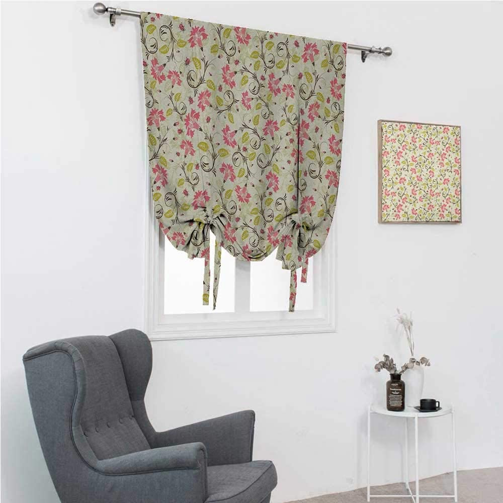 Quality inspection Roman Shades Ladybugs Window Flower Outstanding Curving Design