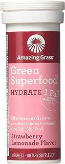 AMAZING GRASS Strawberry Lemon Hydrate Green Superfood, 10 CT