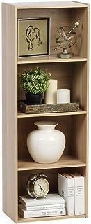 Iris Ohyama - Meuble de rangement cube 4 niches / Etagère 4 casiers en bois MDF - Cube Bookcase CX-4 - Chêne clair, 41.5 x...