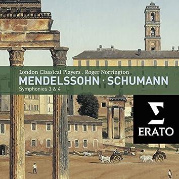 Mendelssohn/Schumann: Symphonies 3 & 4