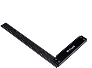 Woodraphic Signature Precision Square in Tool 12-inch Guaranteed T Speed Measurements Ruler for Measuring and Marking Woodworking Carpenters - Aluminum Steel Framing Professional Carpentry Use