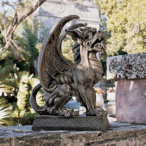 Design Toscano Argos Gargoyle Sentinel Sculpture, gothic stone
